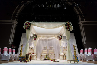Imperial Wedding Mandap at Ealing Town Hall Hindu Wedding