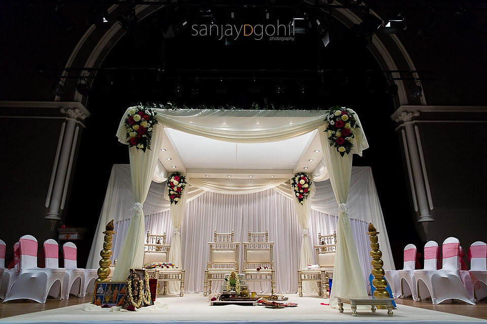 Imperial Wedding Mandap at Ealing Town Hall Hindu Wedding