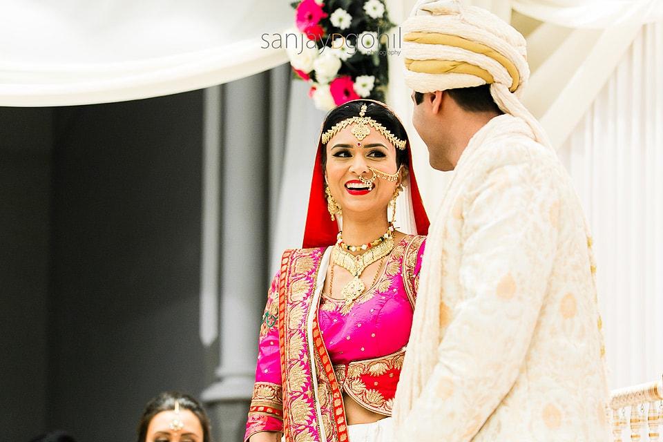 Asian Wedding Bride laughing