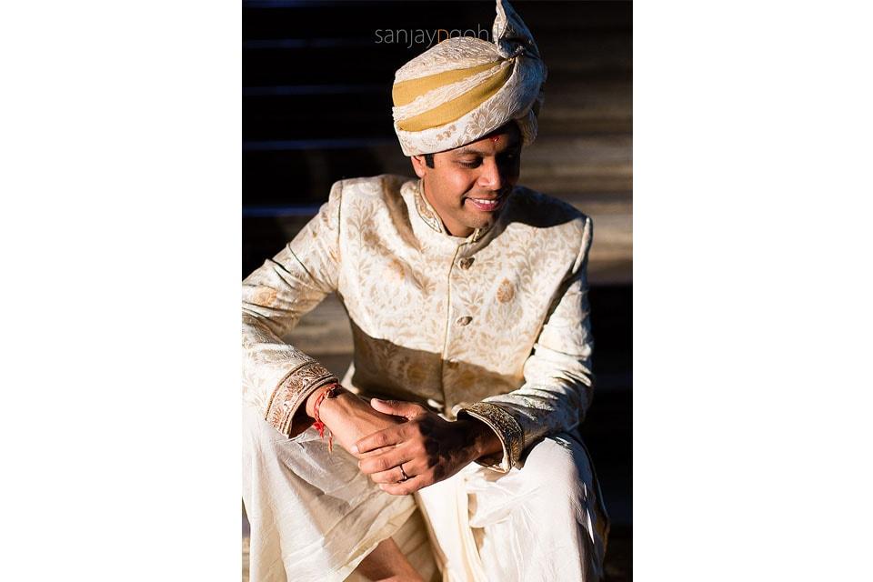 Hindu groom portrait
