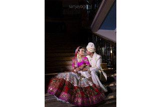 Asian Wedding couple portrait