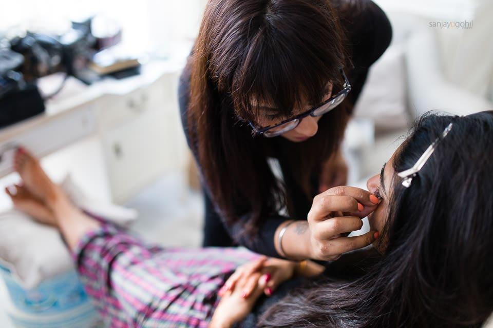 Suky Gill MUA getting Asian Bride ready