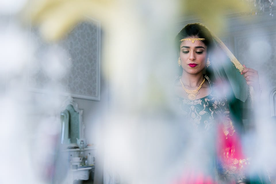 Asian Wedding guests getting ready