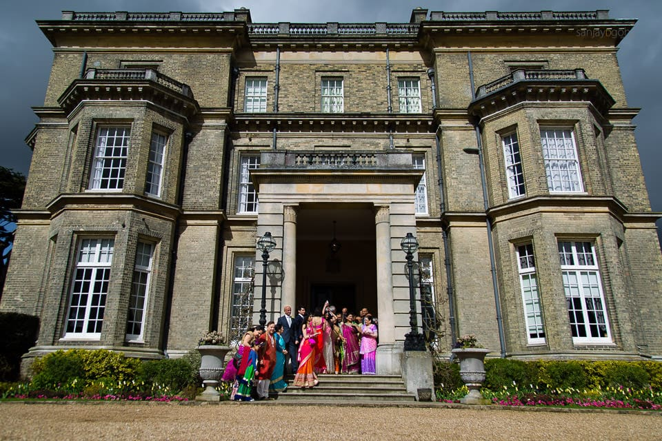 Asian Wedding guests at Hedsor House
