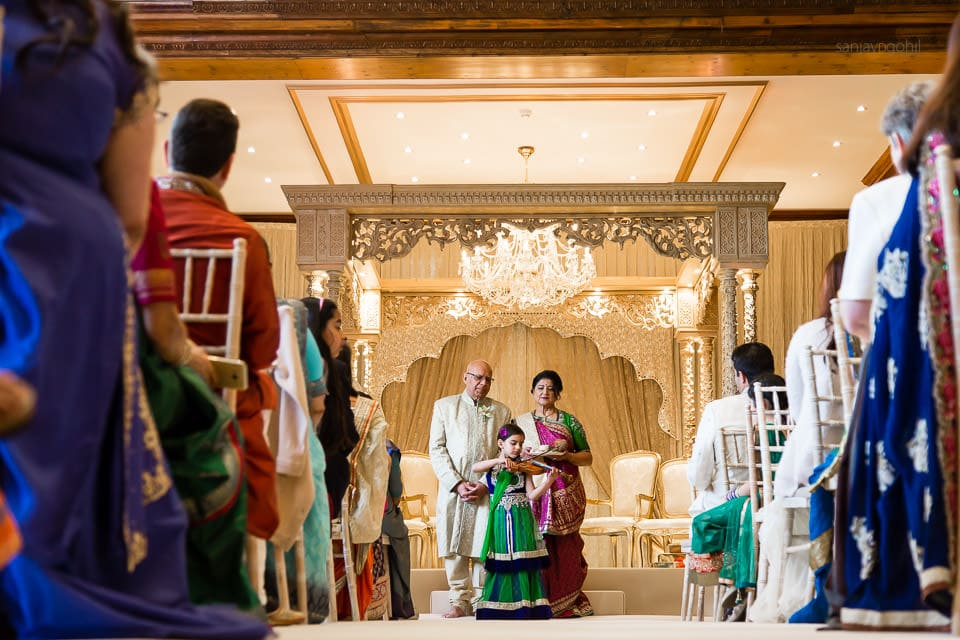 Beginning of Hindu Wedding