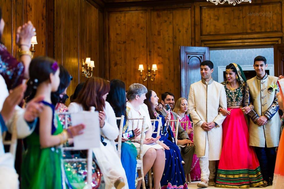 Arrival of Bride at Hindu wedding