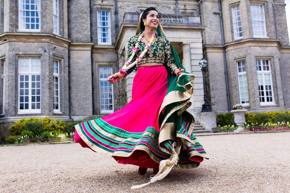 Asian Wedding bride spinning around