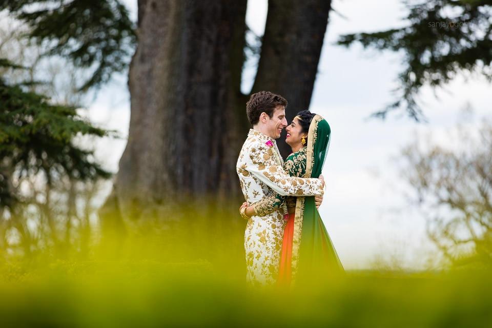 Asian Wedding Portrait at Hedsor House