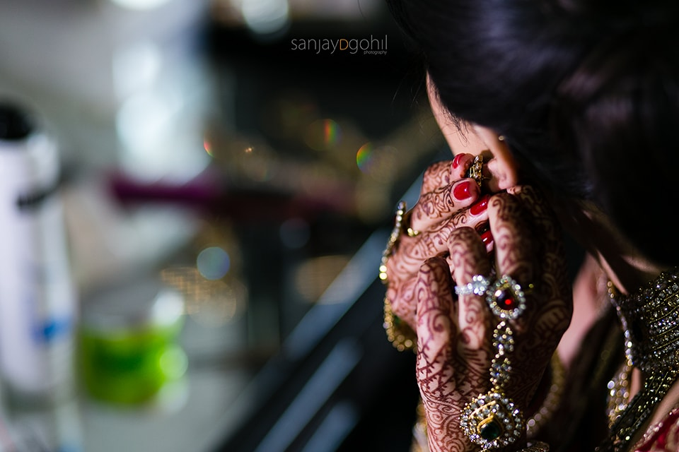 Close up of asian wedding jewellery