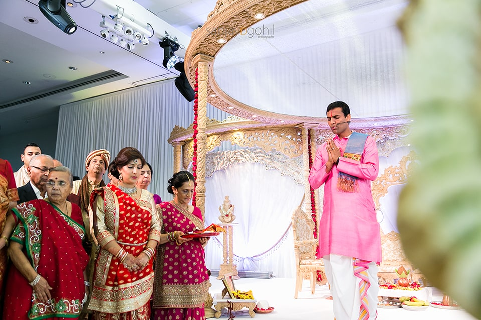 Kamal Pandey wedding priest performing ceremony