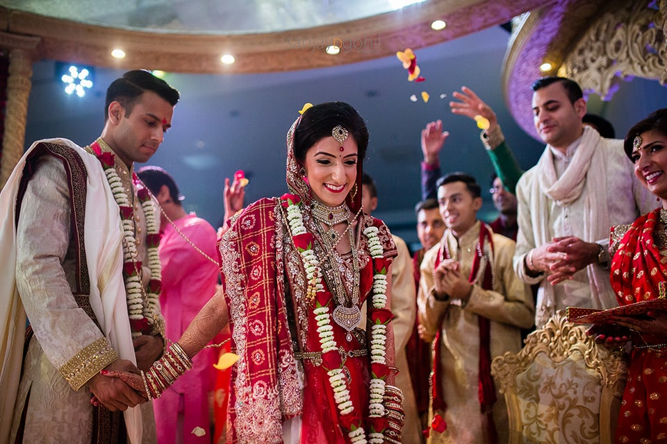 Bride leading during the pheras