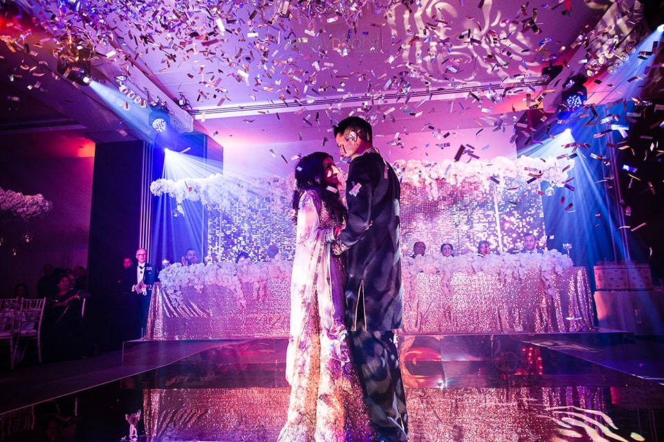 First dance at Hilton Syon Park asian wedding