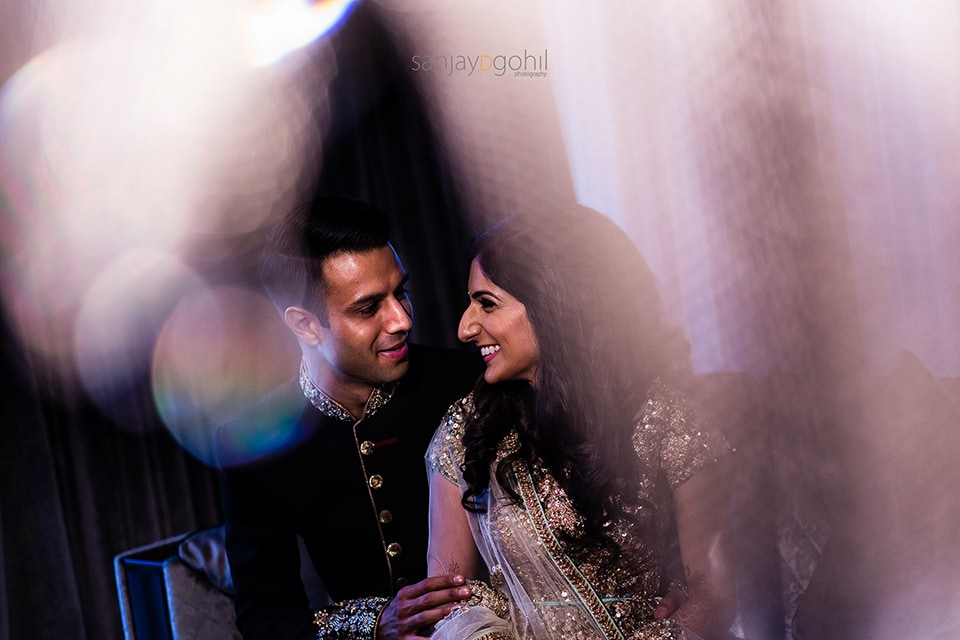 Asian wedding portrait in Hilton Syon Park Hotel