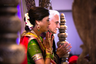 Parents of the bride praying