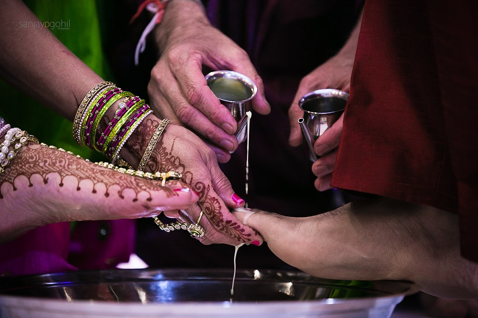 Water being poured during wedding ceremony