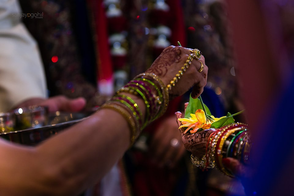Kanyadhan ceremony during asian wedding