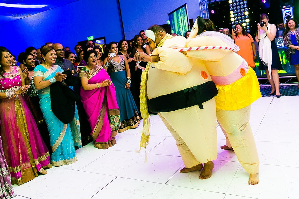 Asian wedding reception party at Hilton Heathrow Terminal 5