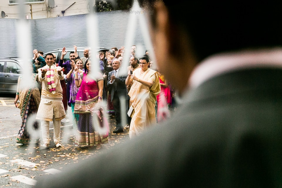 Asian Wedding guests arriving for wedding