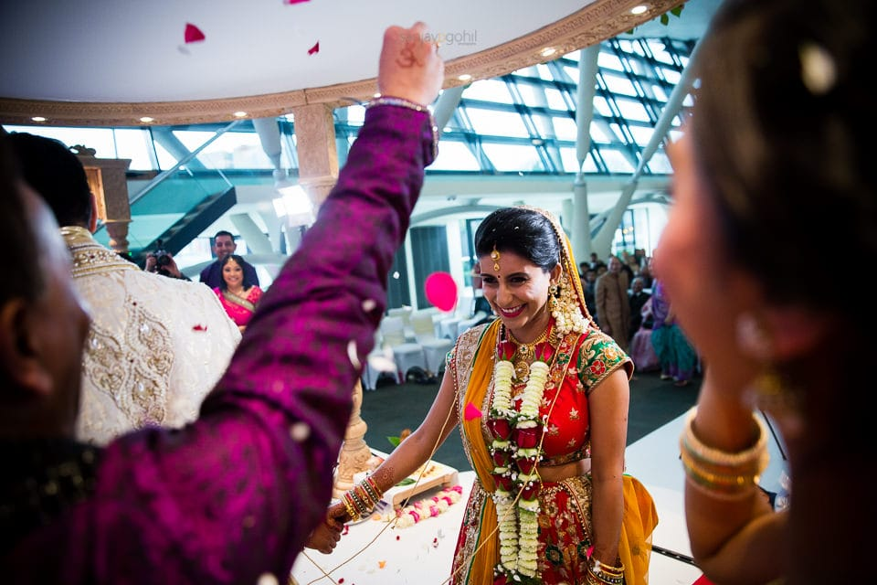 Phera ceremony during Hindu wedding ceremony