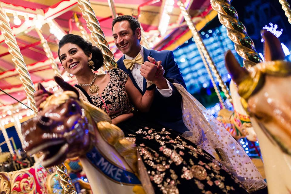 Hindu Wedding portrait at wembley stadium
