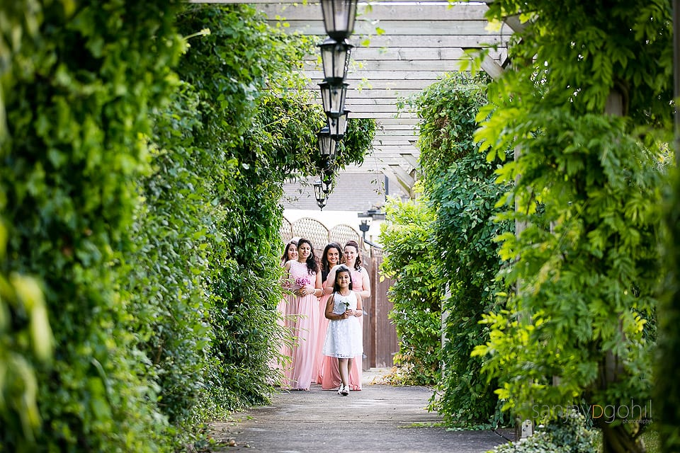 Bridesmaid's walking