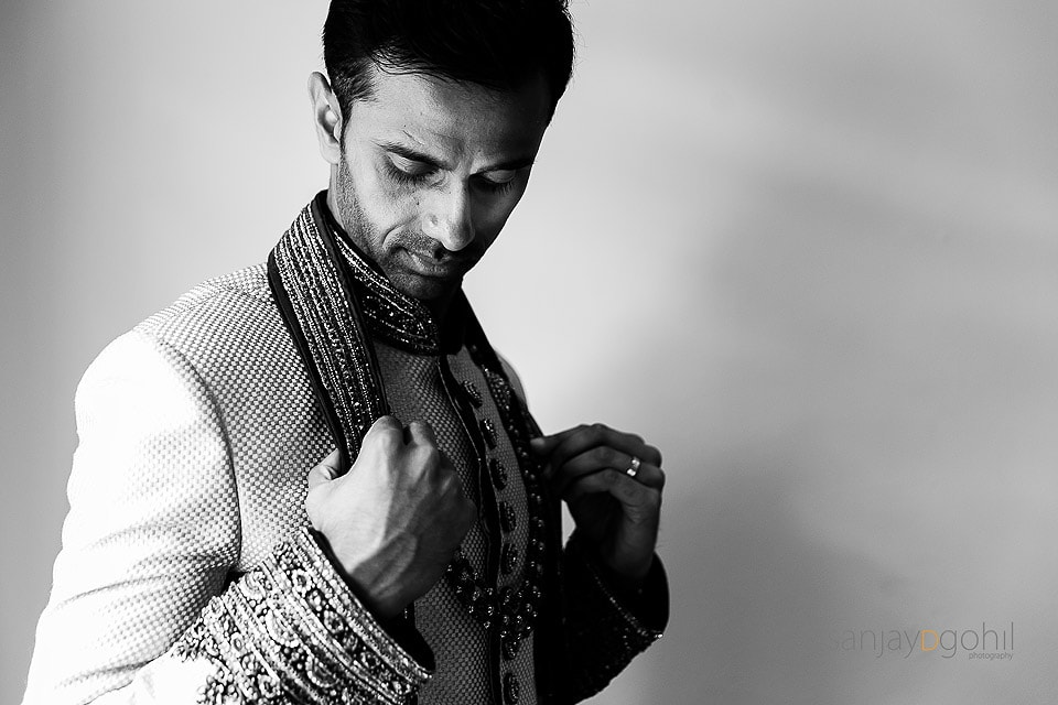 Hindu Wedding groom getting ready