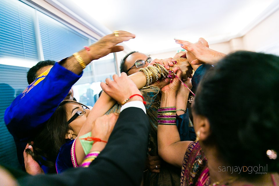 Fun during Hindu Wedding ceremony