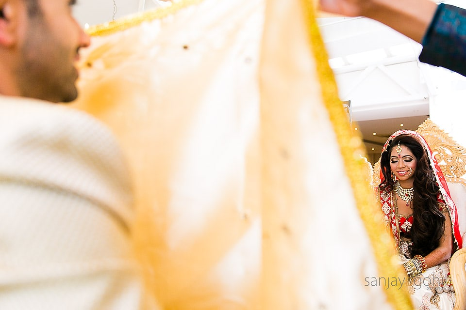 Hindu Wedding Bride smiling