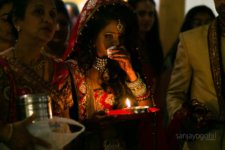 Asian Wedding Bride crying as she leaves