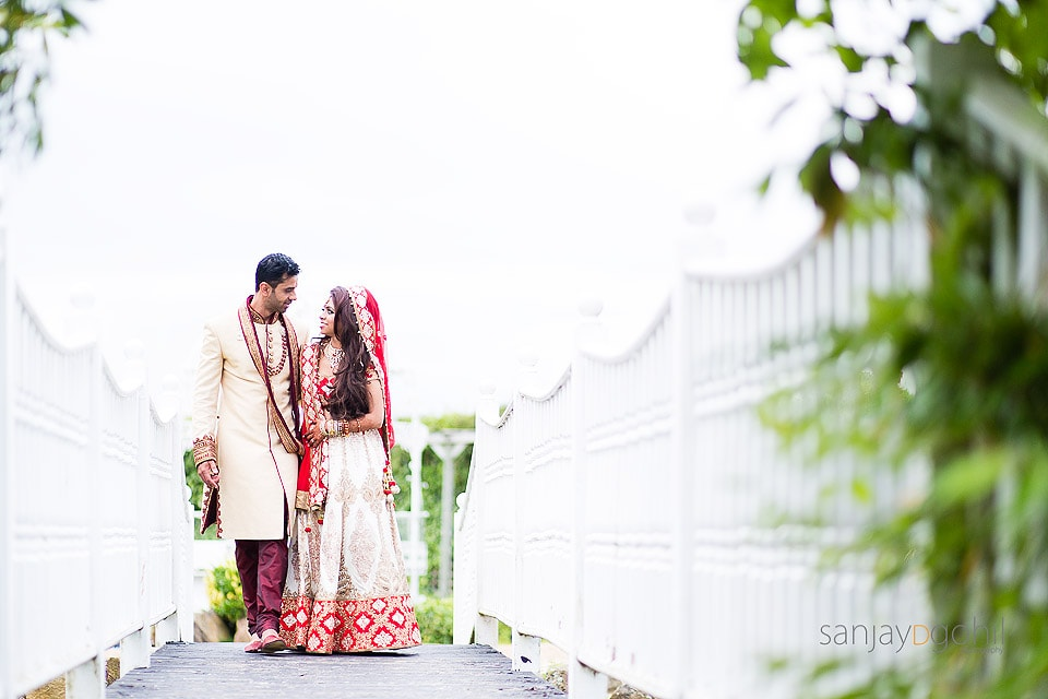 Hindu Wedding portrait at Manor of Groves