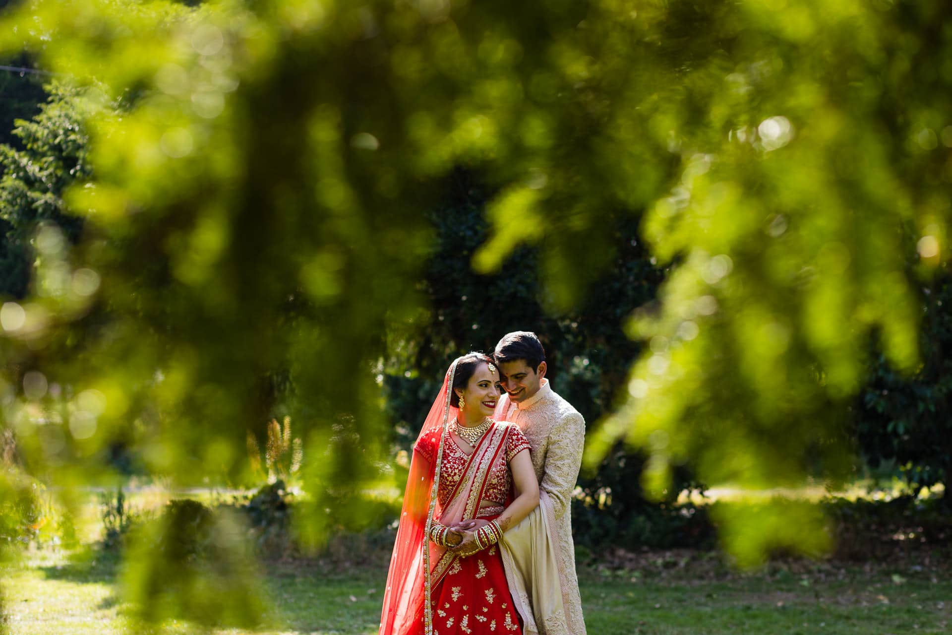 Asian wedding portrait at Meridian Grand, London