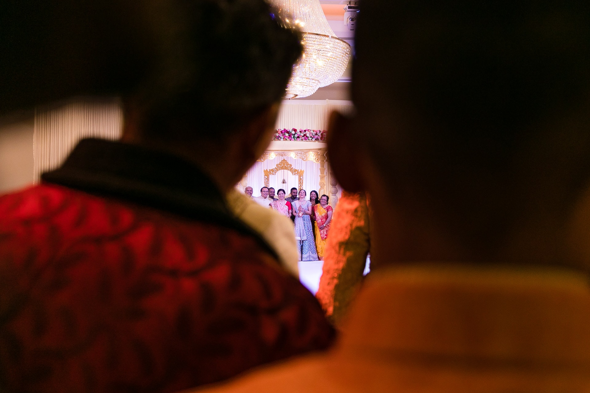 Welcoming ceremony during Hindu Wedding