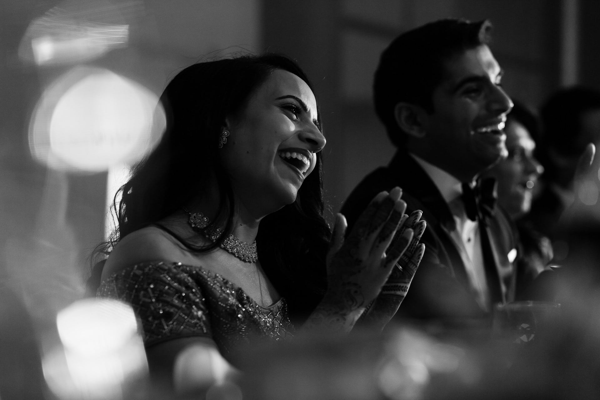 Wedding reaction during speeches at Meridian Grand