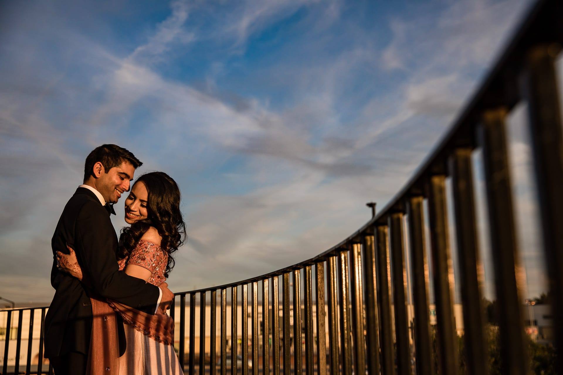 Sunset portrait at Meridian Grand in London