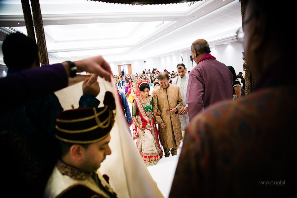 Arrival of the Hindu Wedding Bride