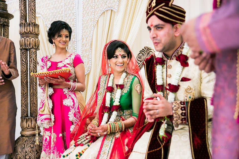 Smiling Hindu Asian Bride