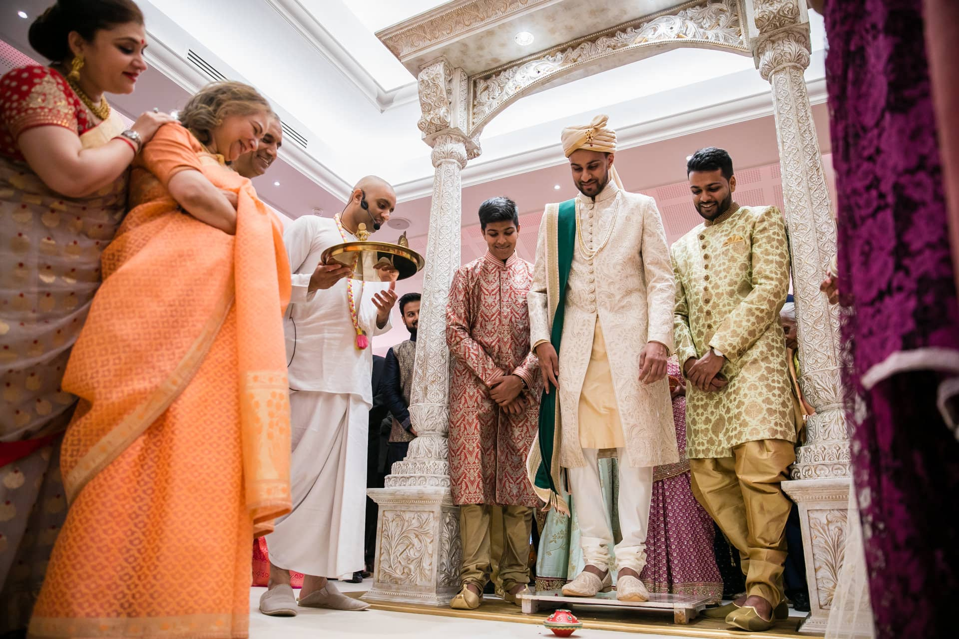 Asian wedding welcoming ceremony