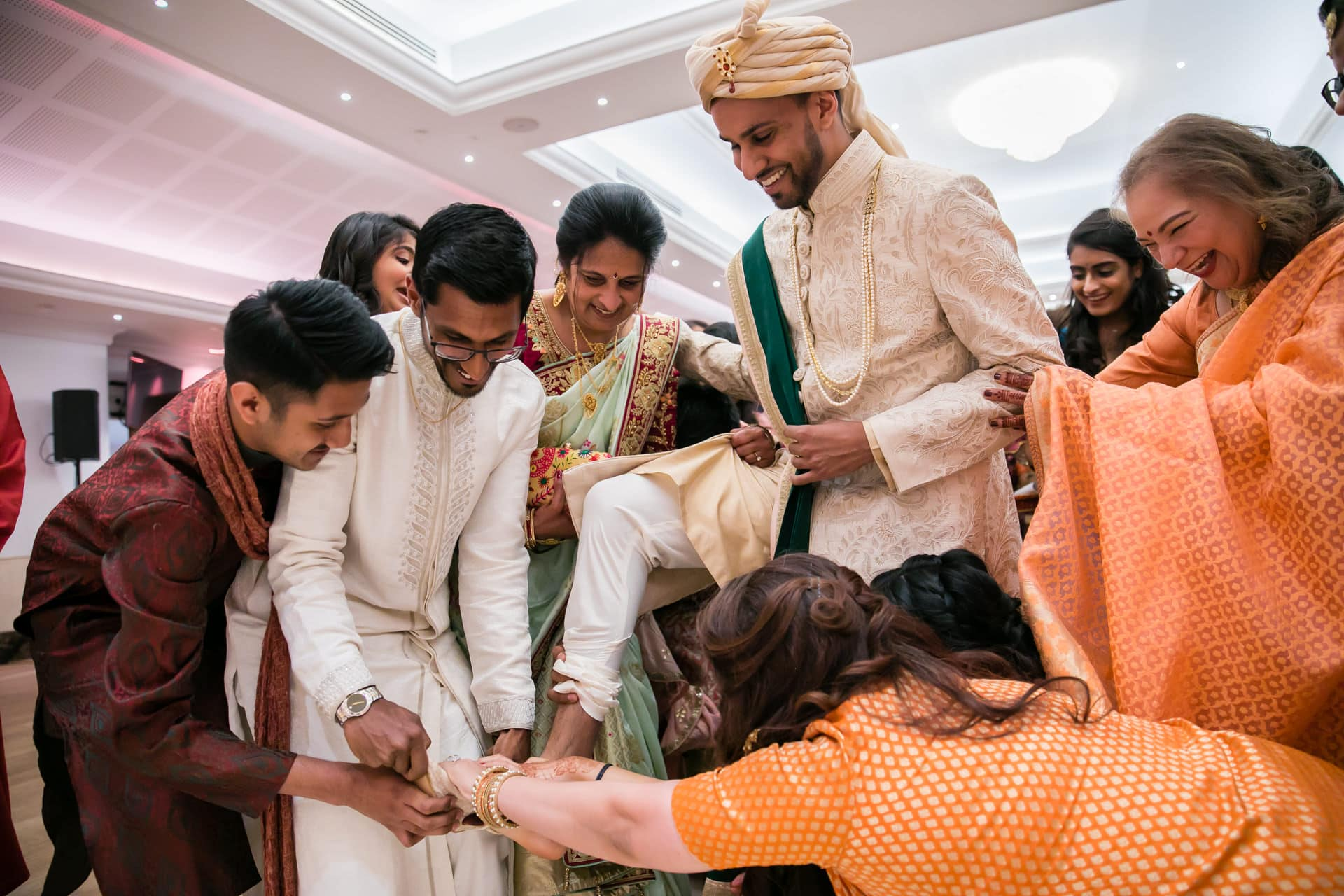 Hindu groom's wedding shoes getting stolen