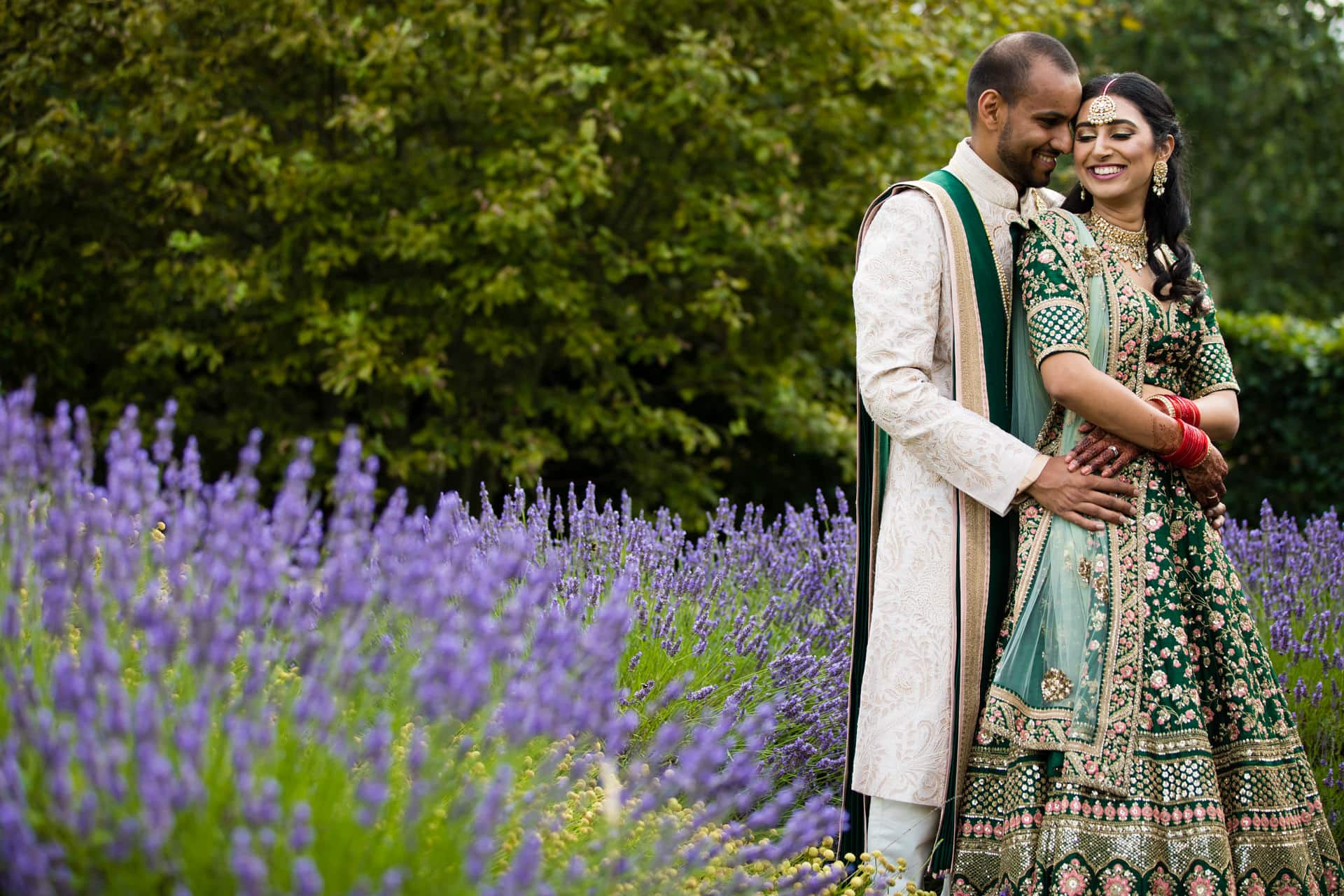 Asian wedding portraits at Oshwal centre, Potters Bar