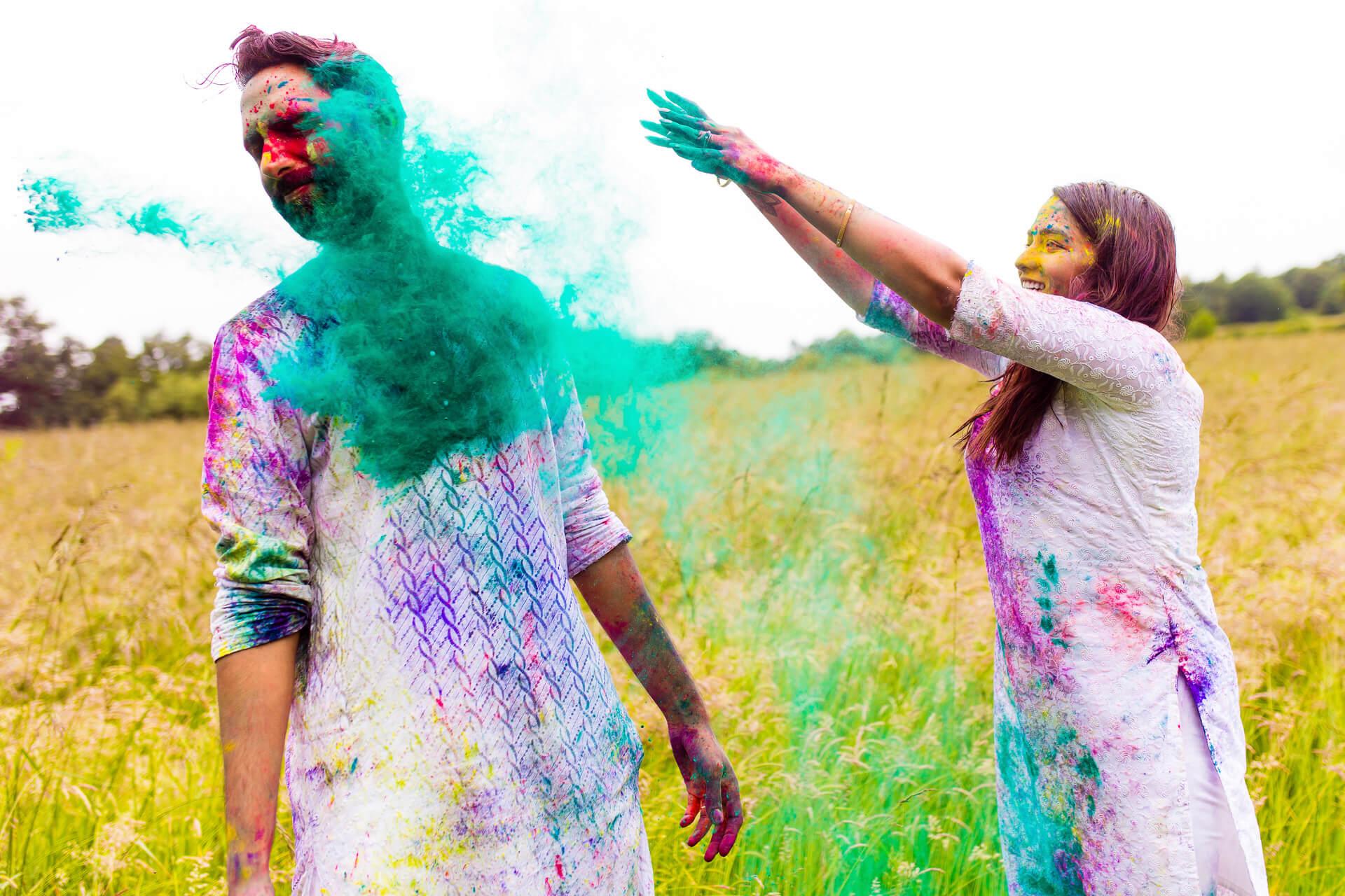 Holi themed photoshoot