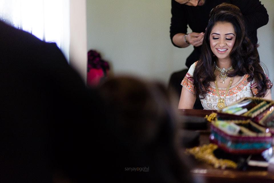 Asian Wedding Bride getting ready by Dil Matharu