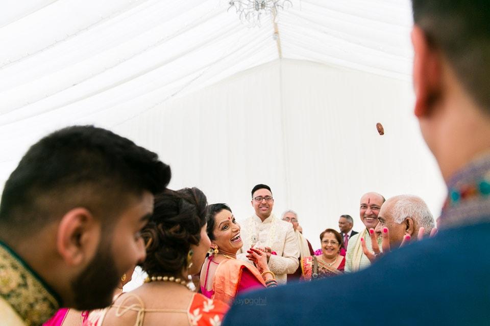 Asian Wedding groom welcoming ceremony