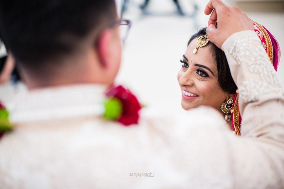 Sindoor ceremony during Hindu Wedding ceremony