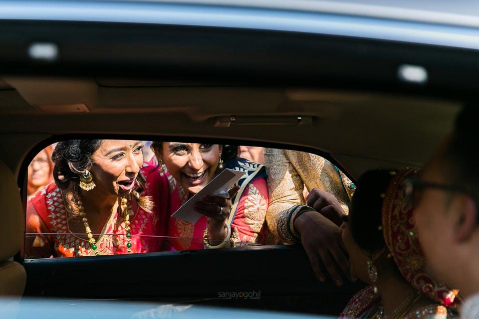 Bride's siblings saying goodbye