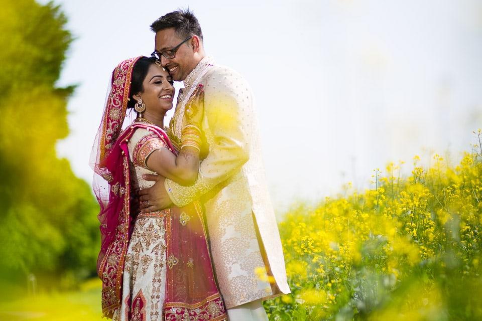 HIndu Wedding portrait at Parklands Quendon Hall
