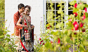 Hindu Wedding portrait at Quendon Hall