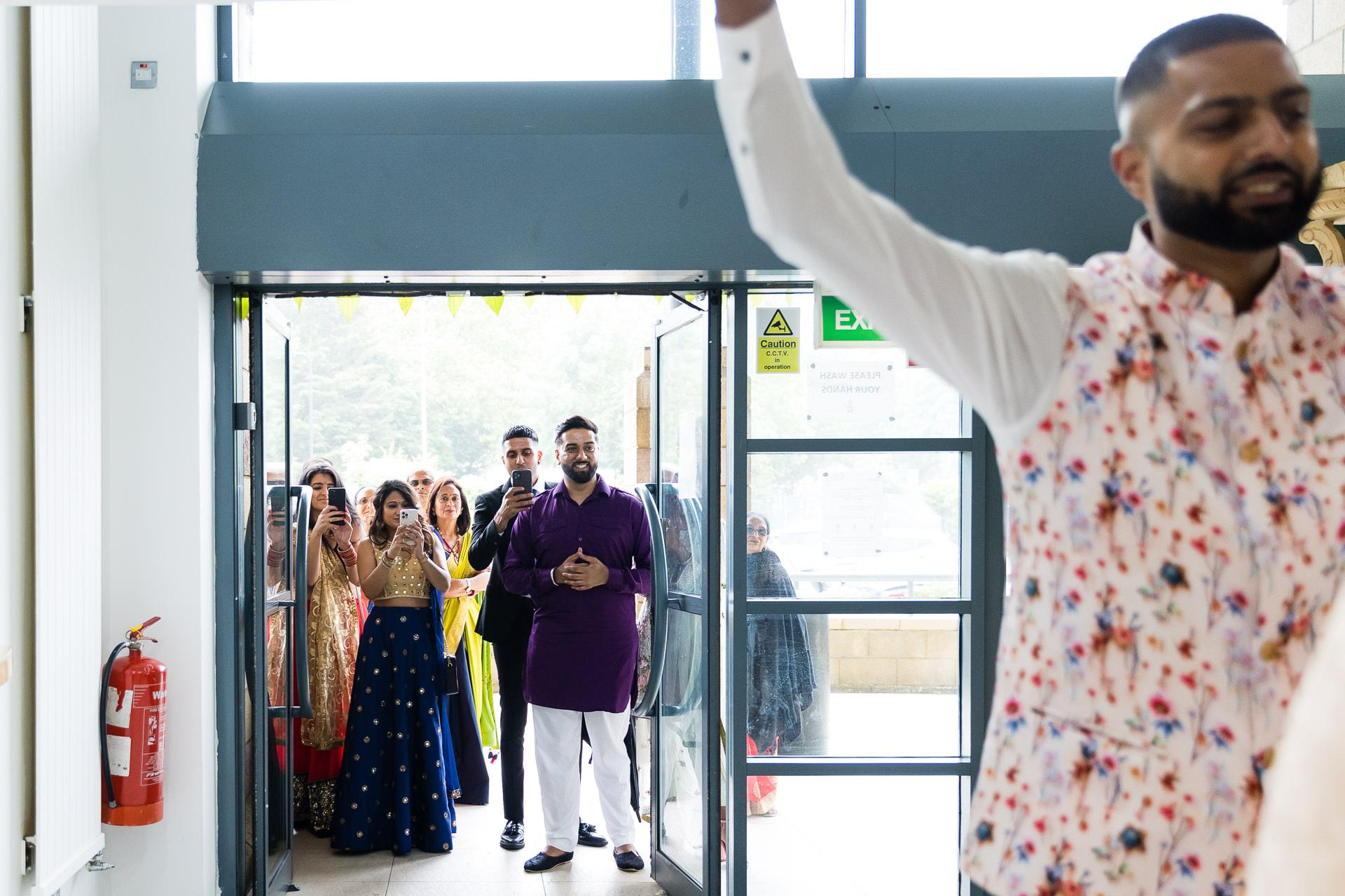 Indian wedding welcoming ceremony