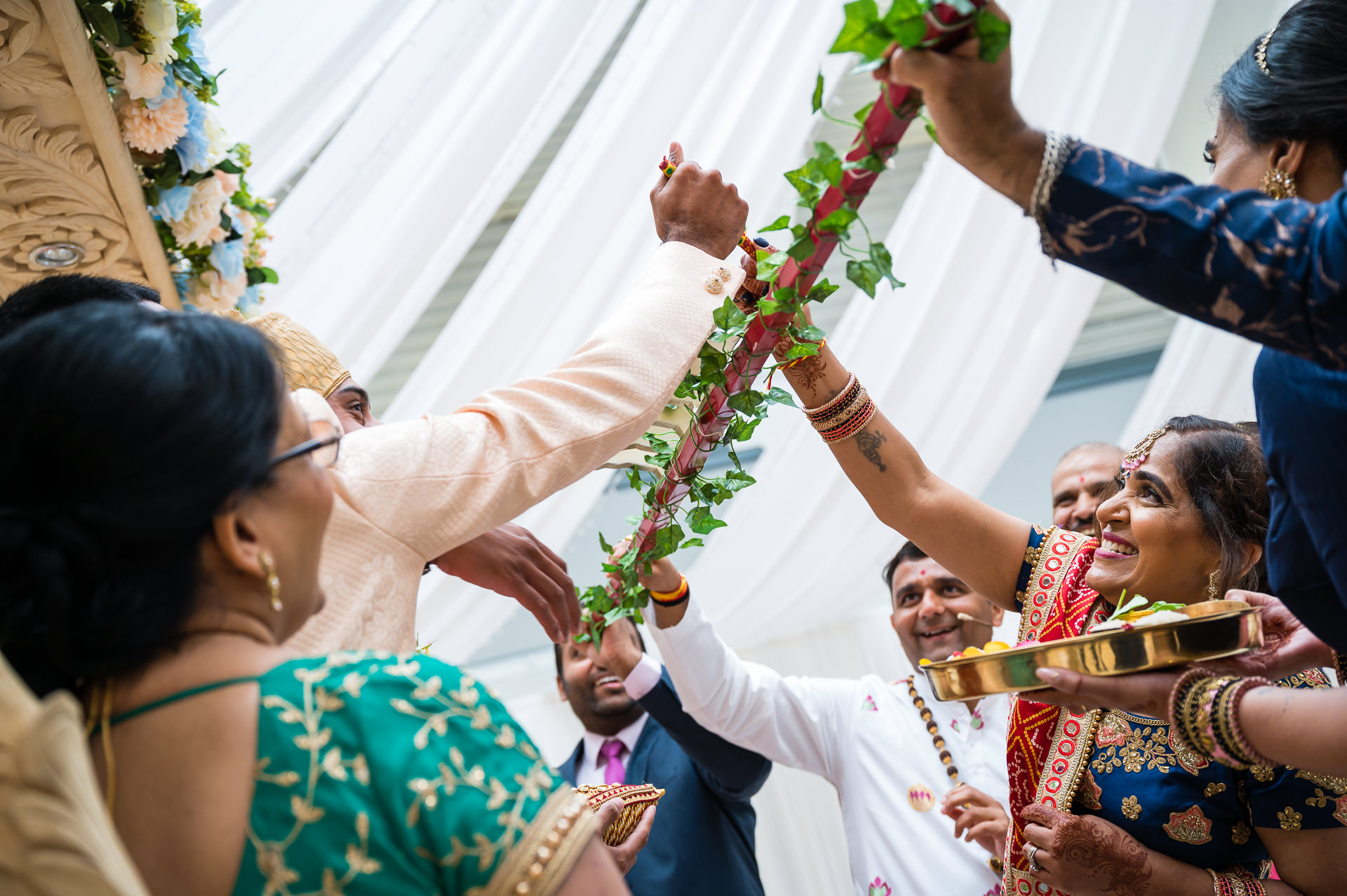 Pokwanu ceremony during Hindu wedding