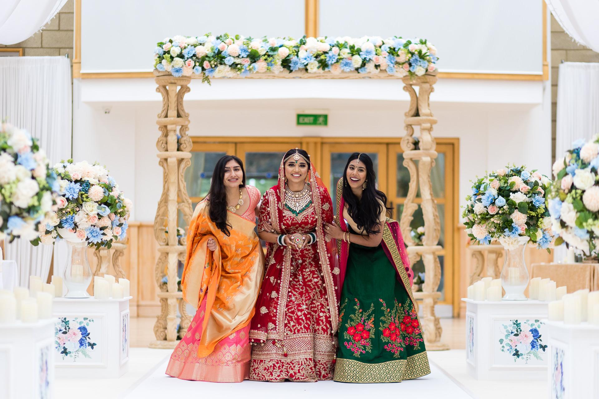 Hindu wedding bride arrival