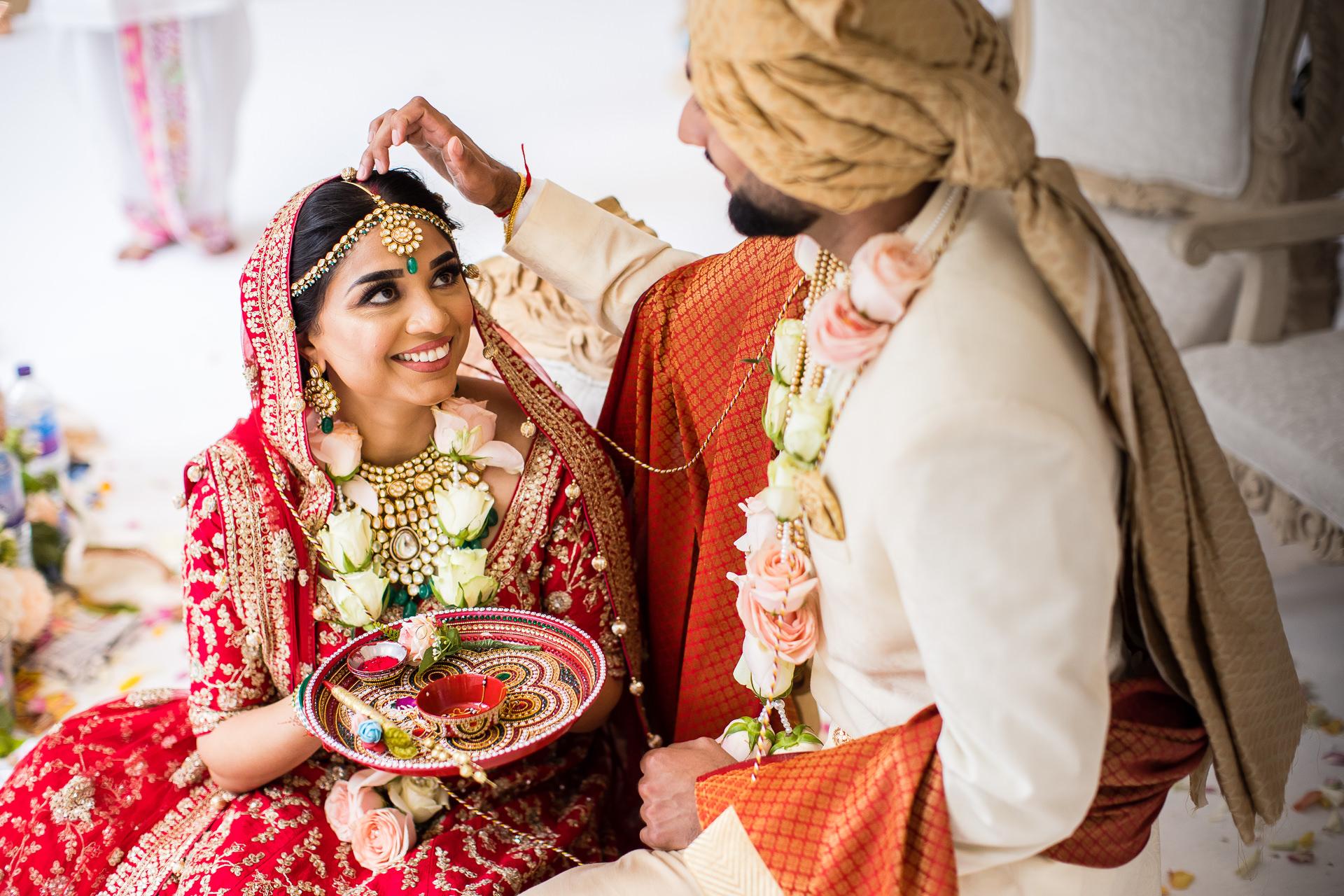 Indian wedding Sindoor ceremony
